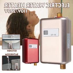 110V 3800W Instant Electric Tankless Hot Water Heater Bath K