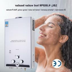 18L 5GPM Hot Water Heater Propane Gas Instant Tankless Boile