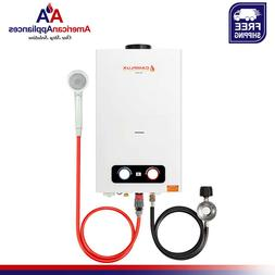 2 64gpm portable propane tankless