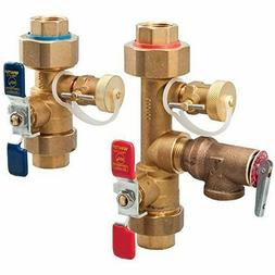 Watts 3/4 LFTWH-UT-HC-RV Tankless Water Heater Valve Set wit