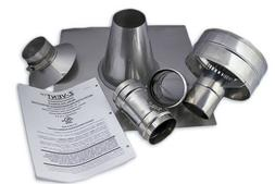 """3"""" Vertical Stainless Steel Z-Vent Water Heater Vent Kit"""