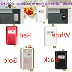 3000/3800W Stainless Steel Instant Electric Water Heater Sho