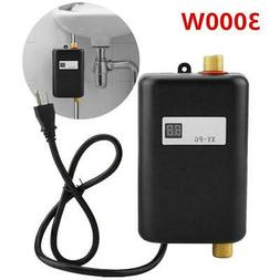 3000W 110V Water Heater Tankless Instant Electric Hot For Ba
