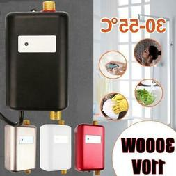 110V 3000W Instant Electric Tankless Hot Water Heater Bath K