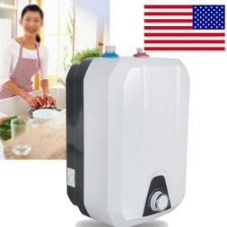 8L Electric Tankless Hot Water Heater Home Kitchen Bathroom
