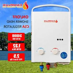 5L Tankless Water Heater 1.32GPM PortablePropane Gas Camping