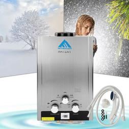 8L Natural Gas Tankless Water Heater Bath Instant Hot Water