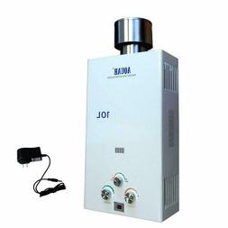 Aquah Outdoor Liquid Propane Gas Tankless Water Heater 10 L