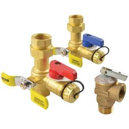 Brass Service Valves Leak Proof Home Tankless Water Heaters