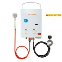 Camplux 5L 1.32 Gpm Outdoor Portable Propane Tankless Water