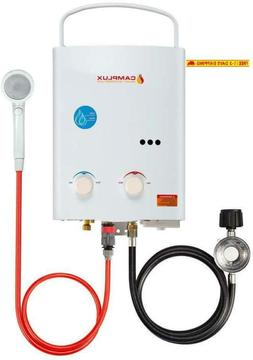 Camplux 5L 1.32 Gpm Portable Outdoor Tankless Propane Water
