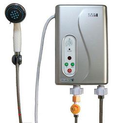 Electric Tankless Shower Hot Water System Water Heater Temp