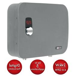 Electric Digital Tankless Water Heater Stainless Steel 24 kW