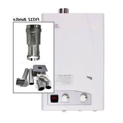 Eccotemp FVI12 Natural Gas Tankless Water Heater with Horizo