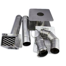 "3"" Horizontal Stainless Steel Z-Vent Water Heater Vent Kit"