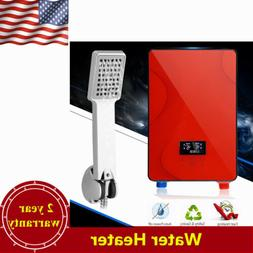 Instant Electric Tankless Hot Water Heater Bathroom Bath Sho