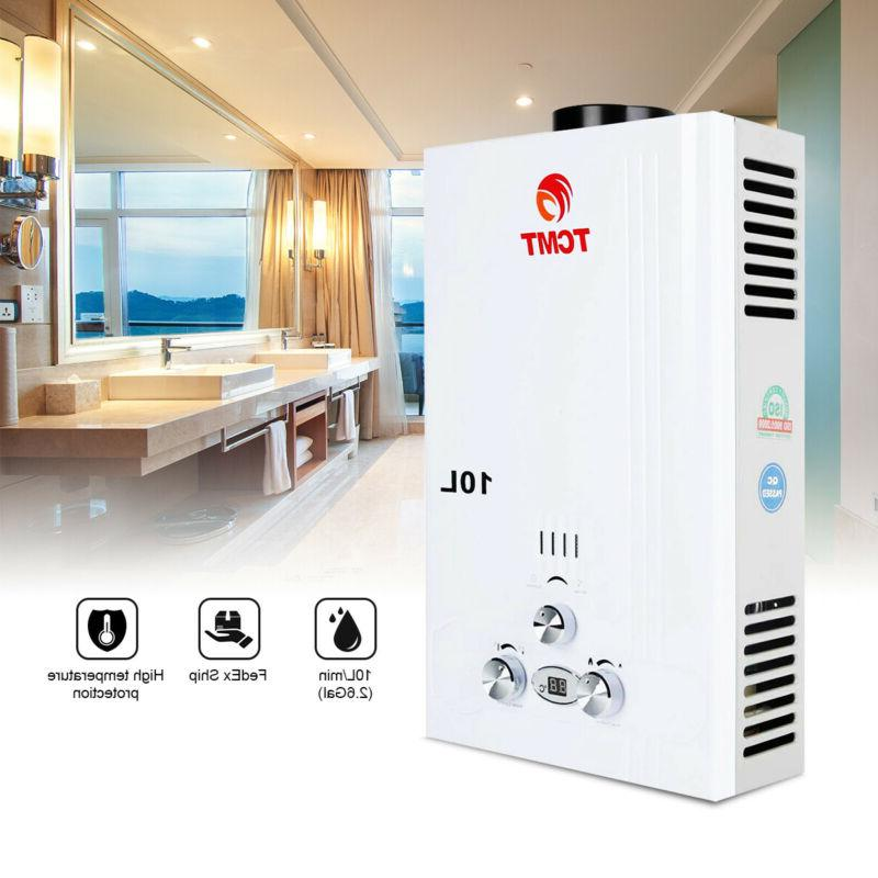 10L Tankless Hot Water Heater Propane Instant Family
