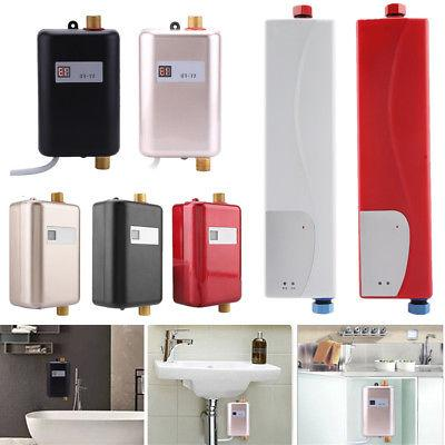 110V/220V Tankless Instant Electric Hot Water Heater Kitchen
