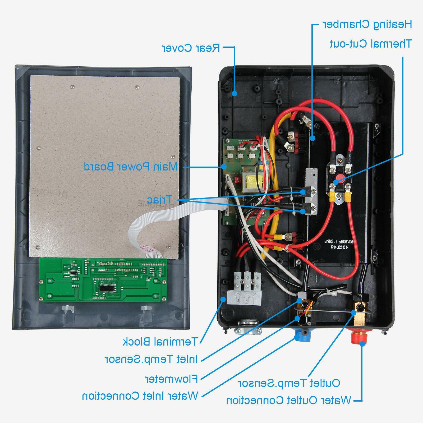 11KW 18KW Bathroom Shower Electric Tankless Hot