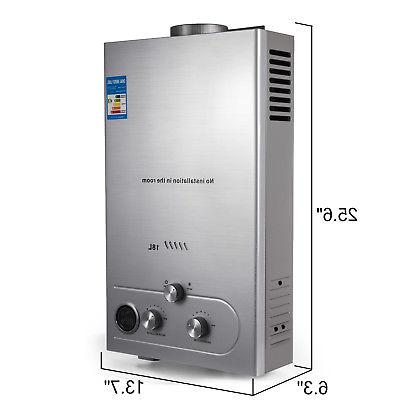 18L Natural Gas Water Heater Instant On w/ Shower