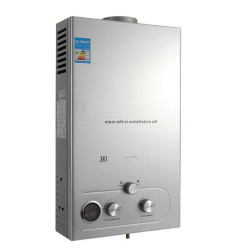 Hot 18L Stainless Silver Tankless