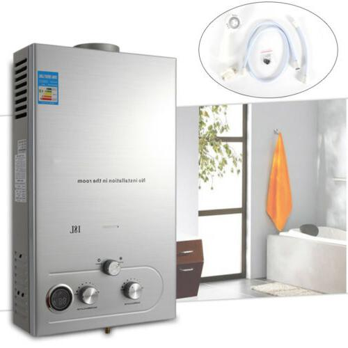 hot water heater 18l stainless steel natural