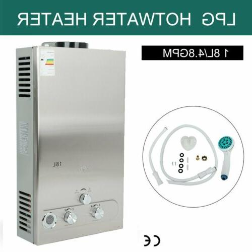 18l propane gas lpg tankless hot water