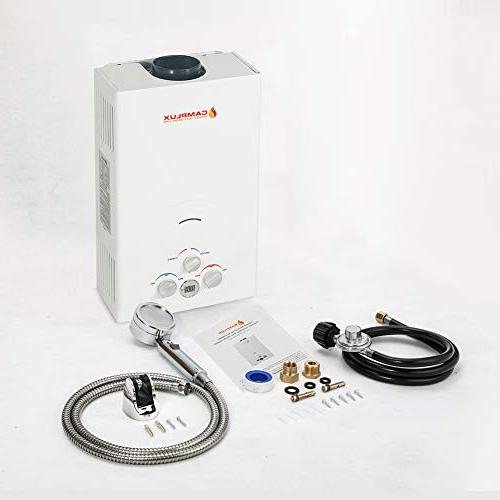 Camplux 10L Outdoor 2.64 GPM Display Portable Propane Gas Tankless