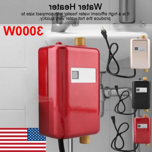 3000W Electric Hot Heater Kitchen Bathroom US
