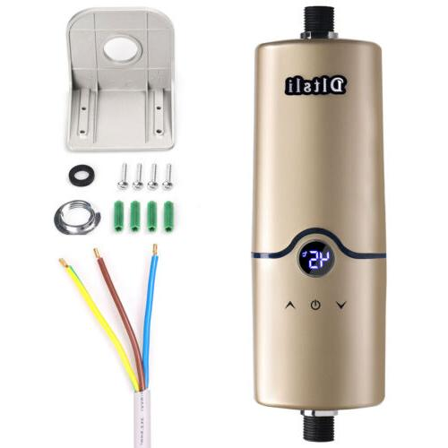 5500W Power Tankless Electric Water Heater Boiler Shower US