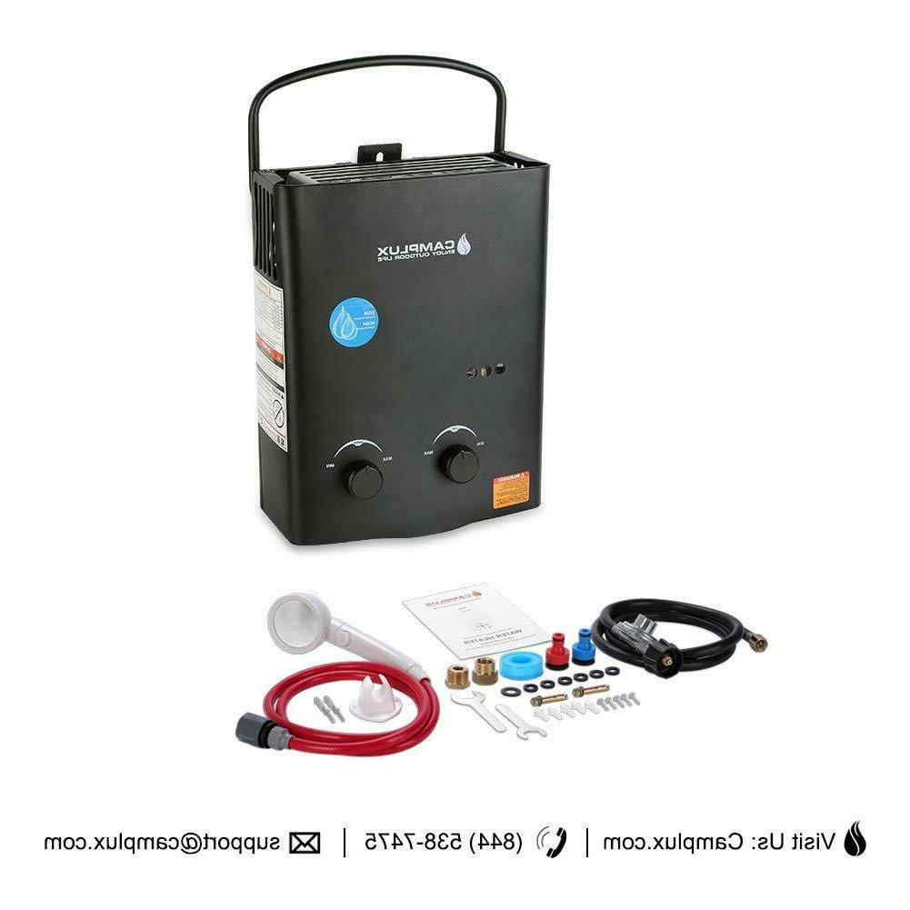 Camplux 5L 1.32 Outdoor Portable Hot Water Black
