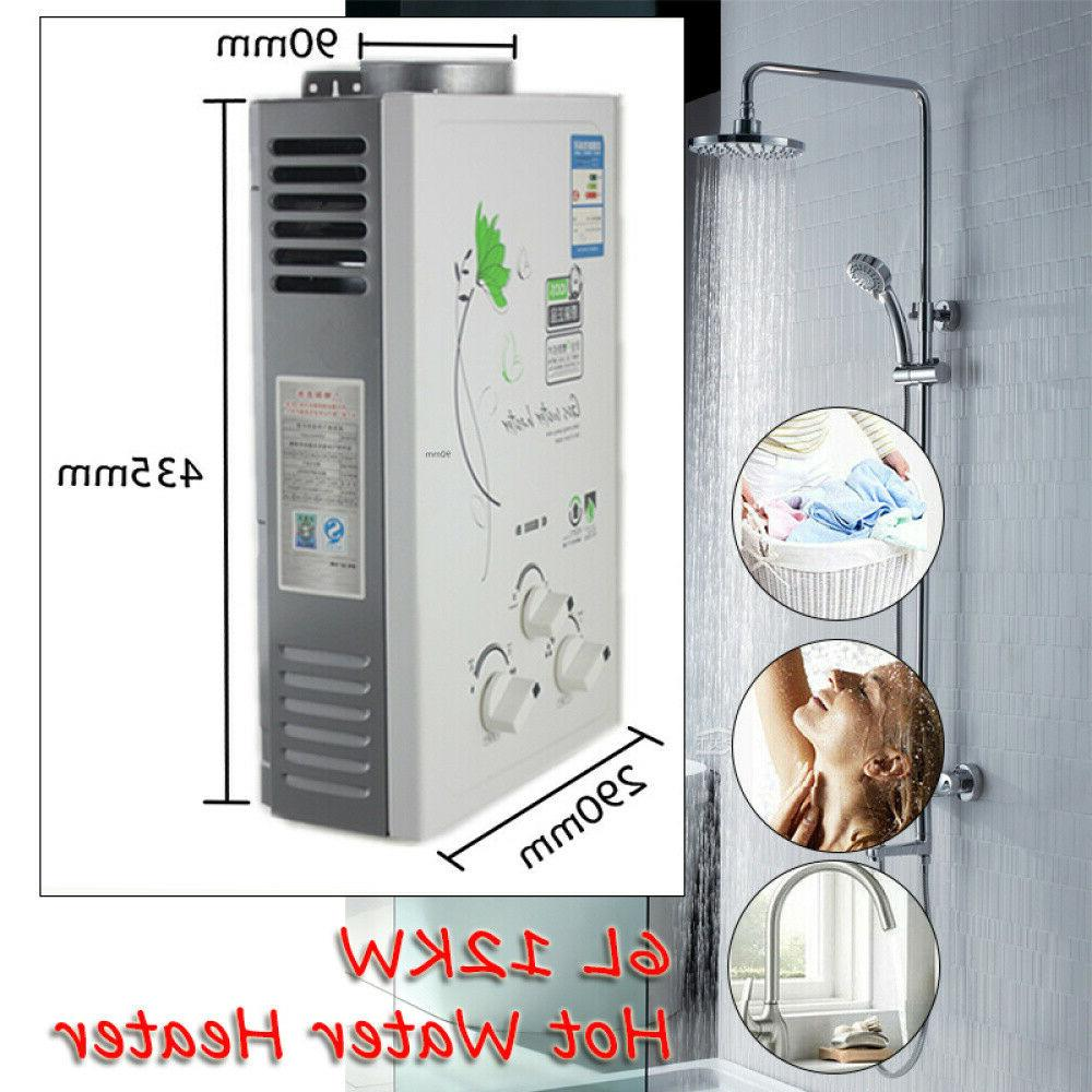 6L 12KW Home Kitchen Bathroom Tankless Fast Hot Water Heater