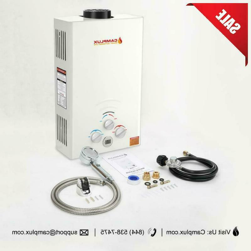 Camplux Outdoor 2.64 Gpm Digital Display Portable Propane Gas