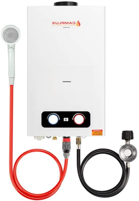 camplux 2 64 gpm portable tankless water