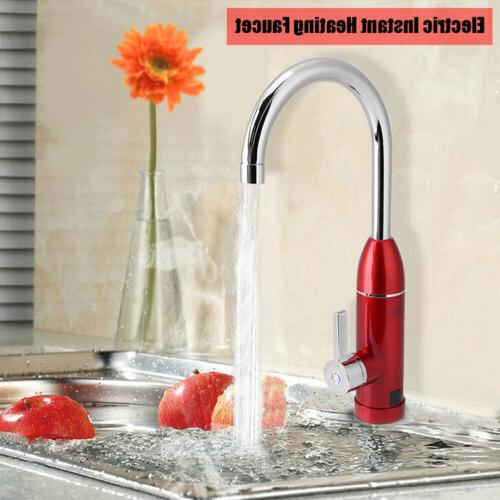 220V 3000W Electric Faucet Tap Hot Cold Water Heating Instan