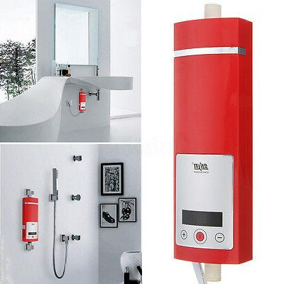 Electric Water Shower Touch LED Display 5500W Tankless