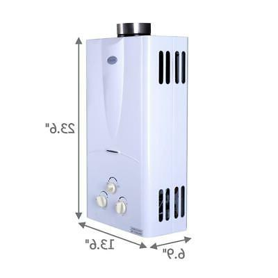Marey 3.1 Propane Tankless Heater, White