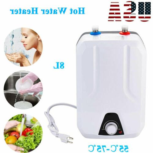 instant hot water heater electric tank on