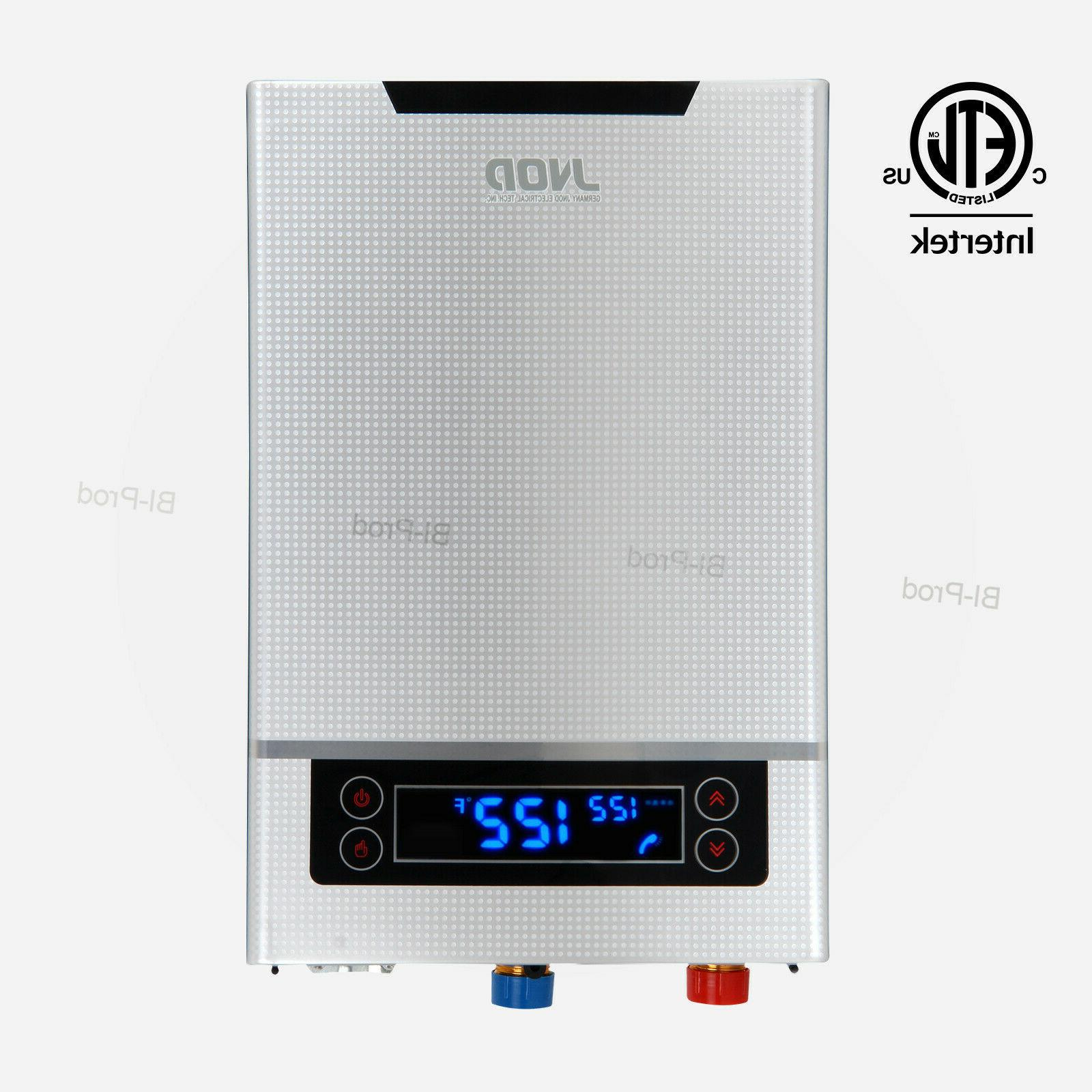 led touch screen electric tankless on demand