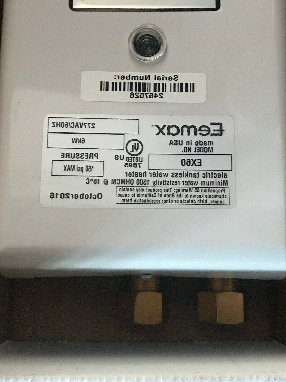 New Eemax EX60 Electric Instantaneous Water 6kW 277