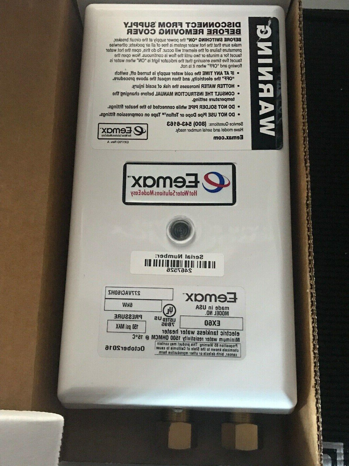 new ex60 tankless electric instantaneous water heater