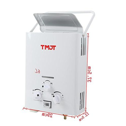 TC-Home Portable 6L 1.6 GPM Propane Gas Tankless Outdoor Display Instant Water Heater