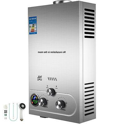 propane gas hot water heater 16l on
