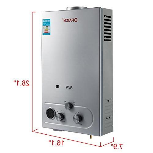 VEVOR 16L Water Tankless Instant Boiler Stainless Steel Liquefied Water with Shower Head Kit Wall-Mounted Water Heater