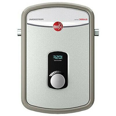 Rheem 8kW Tankless Water Heater 240V Ext Adj Temp 1/2 in. Co