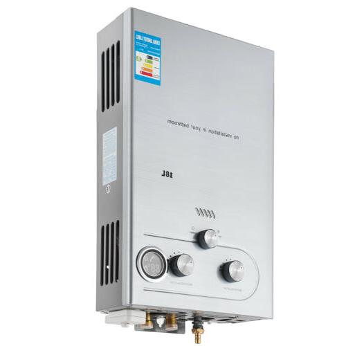 Tankless Hot Water Natural Gas GPM 18L