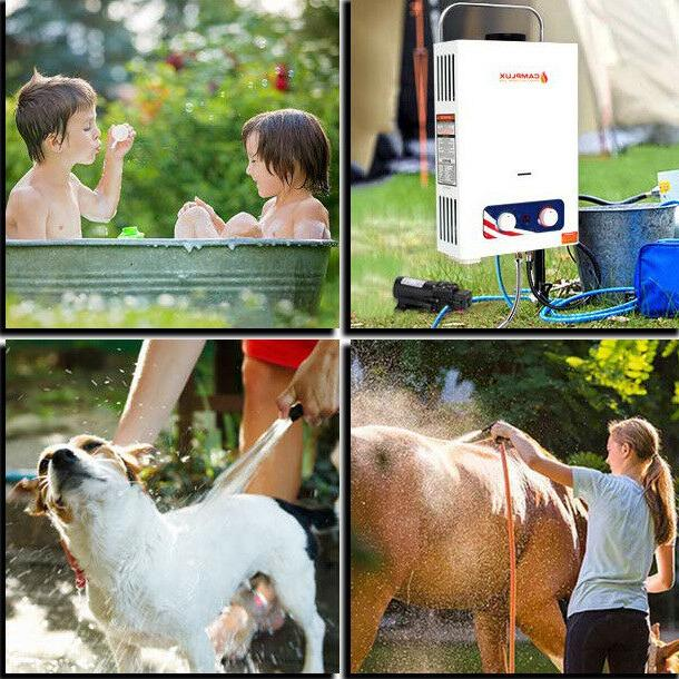 Tankless Portable heater with pump 6L 1.58 propane