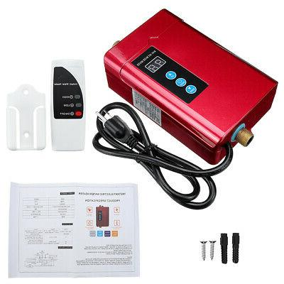 w/Remote Control 4000W Electric Tankless Water Heater