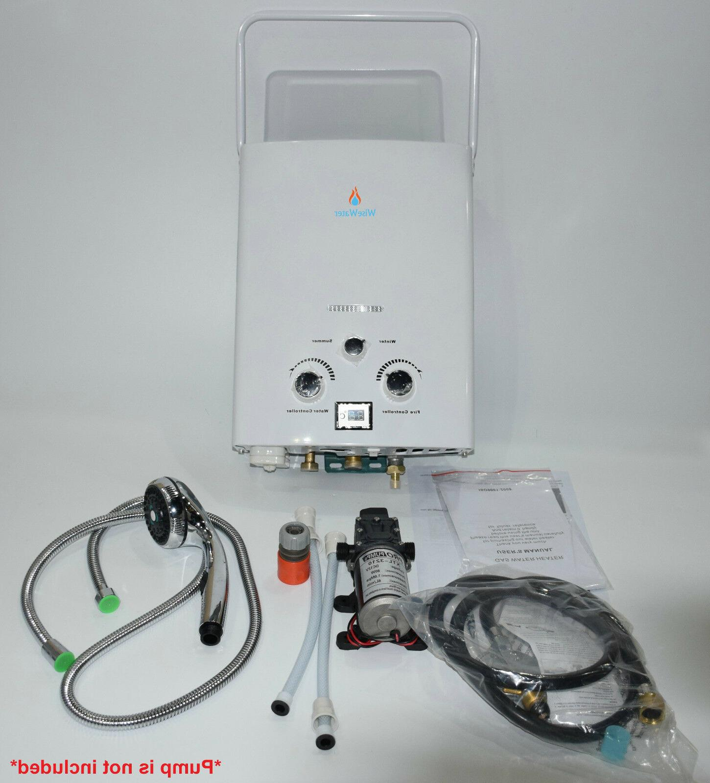wisewater outdoor portle tankless propane gas water