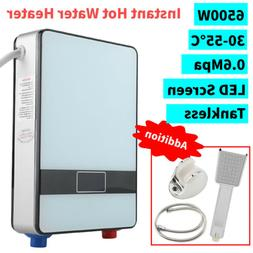 LED Tankless Instant Electric Hot Water Heater & Shower Head